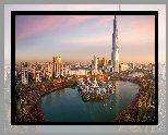 Korea Południowa, Seul, Budynek Lotte World Tower, Park rozrywki Lotte World, Jezioro