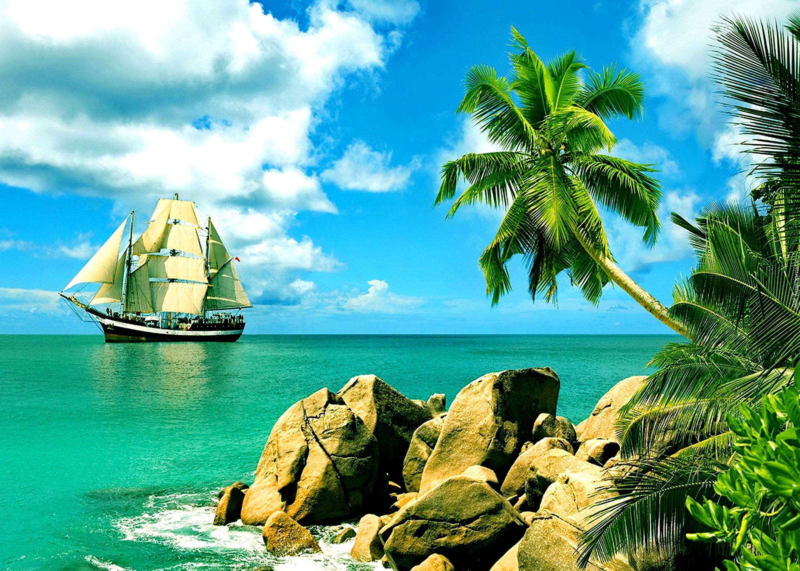 яхта парус море остров  № 3944552 без смс