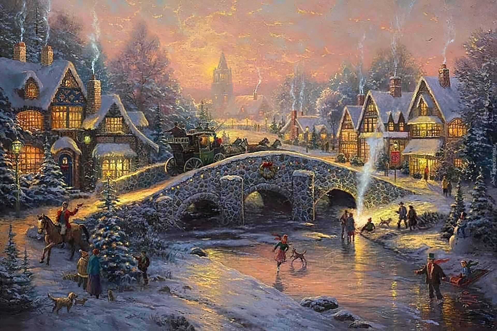 Miejskie Lodowisko 148517_zima_lodowisko_domy_choinka