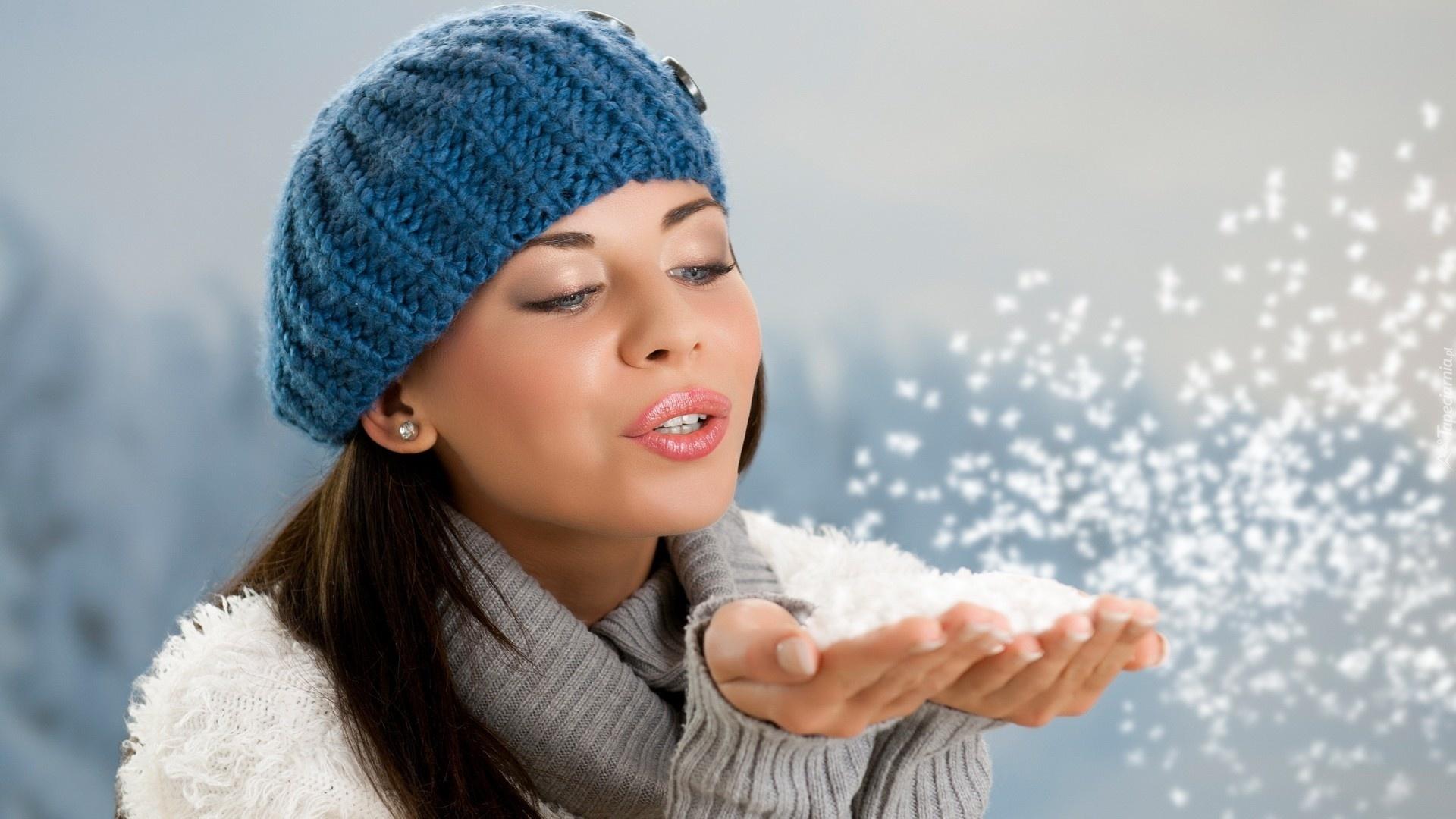 девушка брюнетка зима снег winter snow  № 2816764 без смс