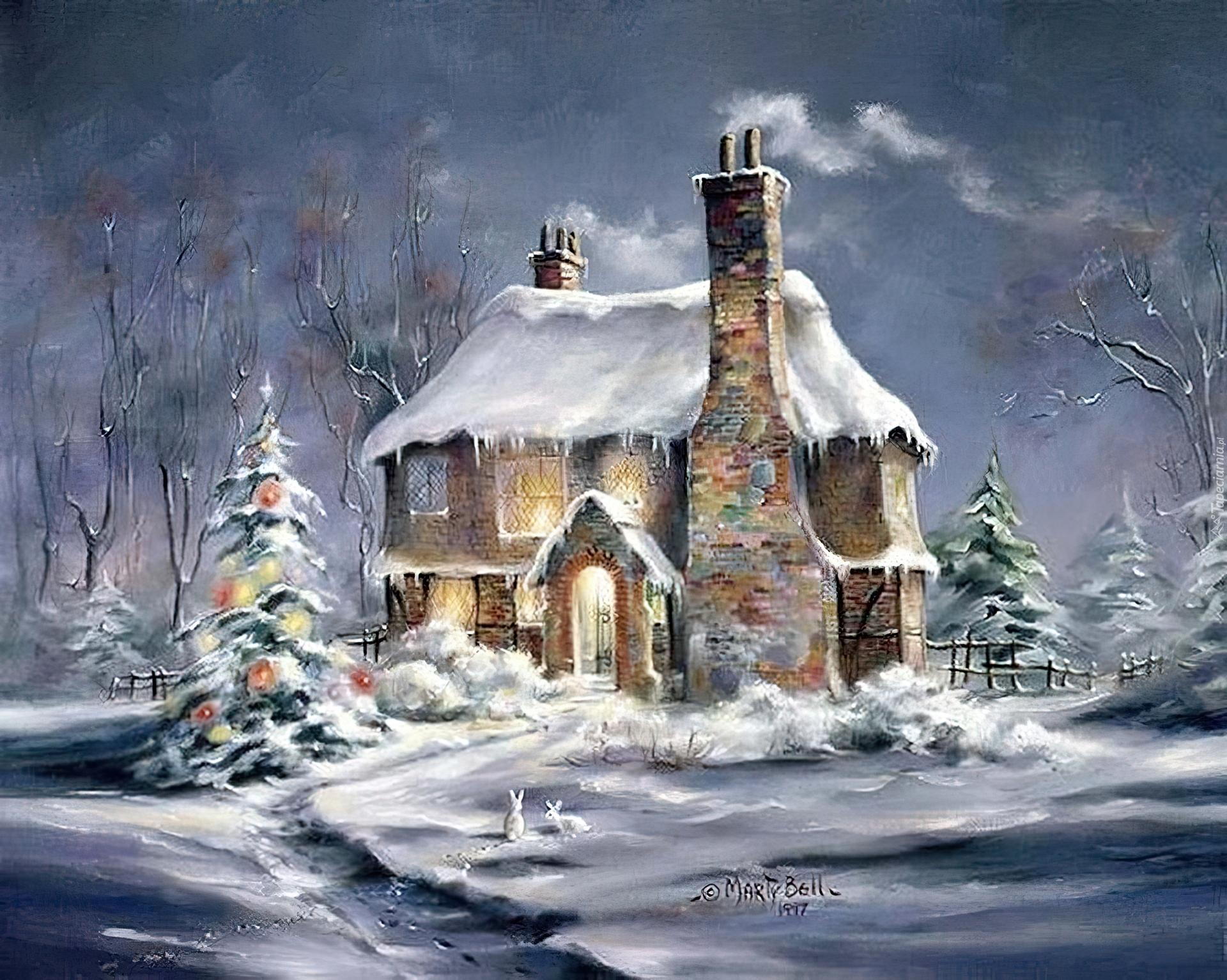 http://www.tapeciarnia.pl/tapety/normalne/154794_dom_choinka_zima_boze_narodzenie_malarstwo.jpg