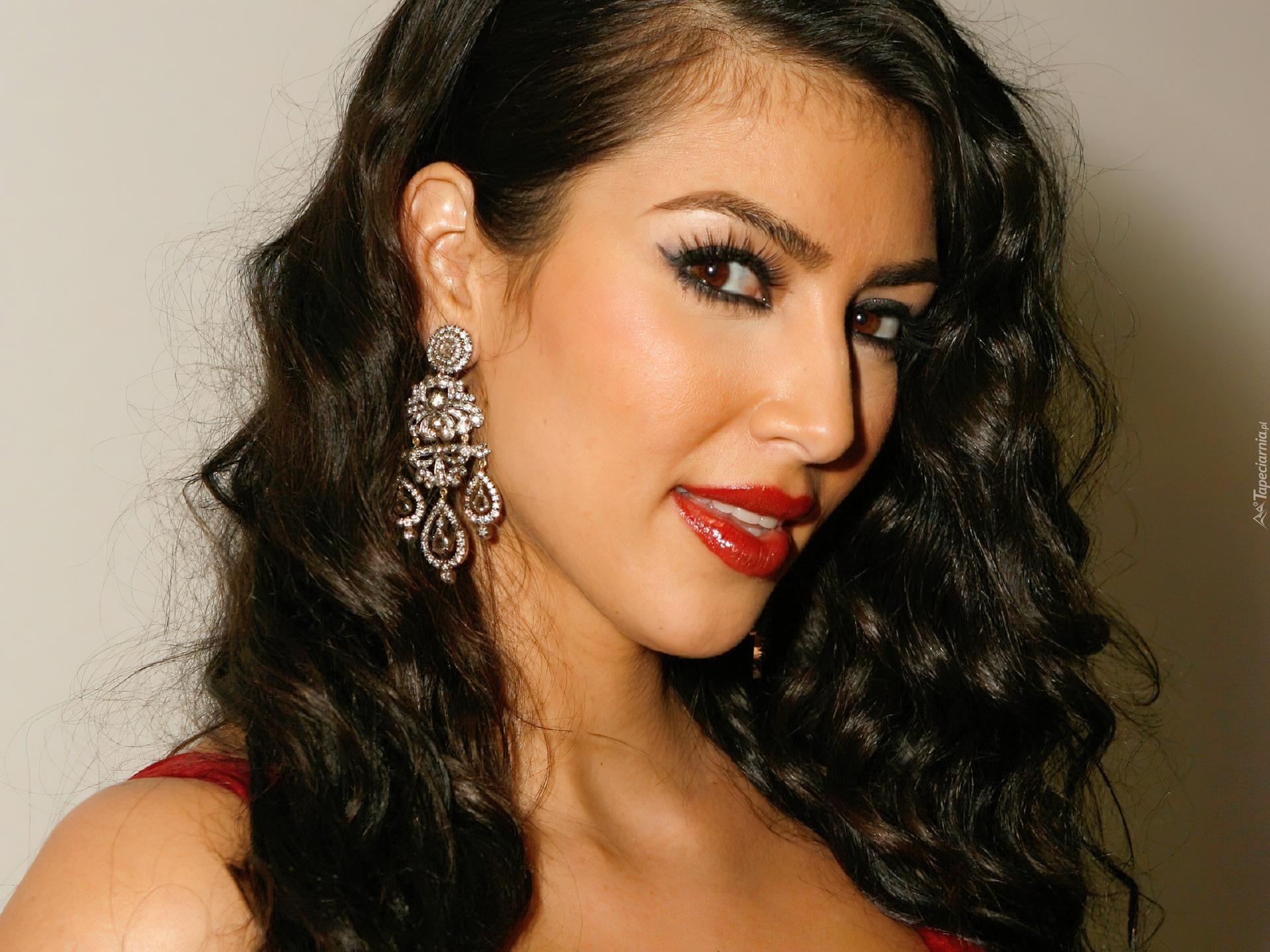 Lily Kim Dla Kim Kardashian Kolczyki Usta