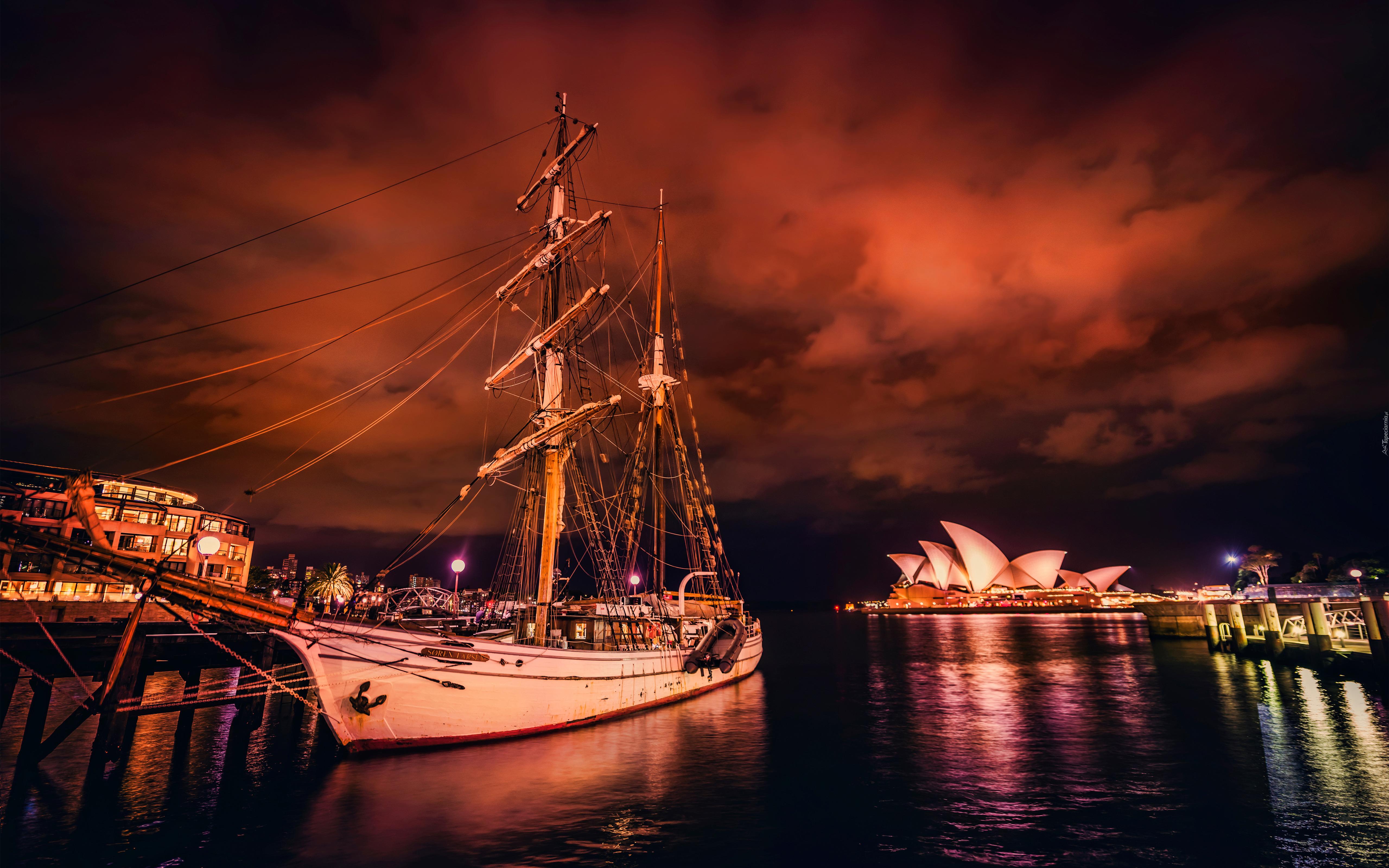 ночь яхта корабль  № 3498321  скачать