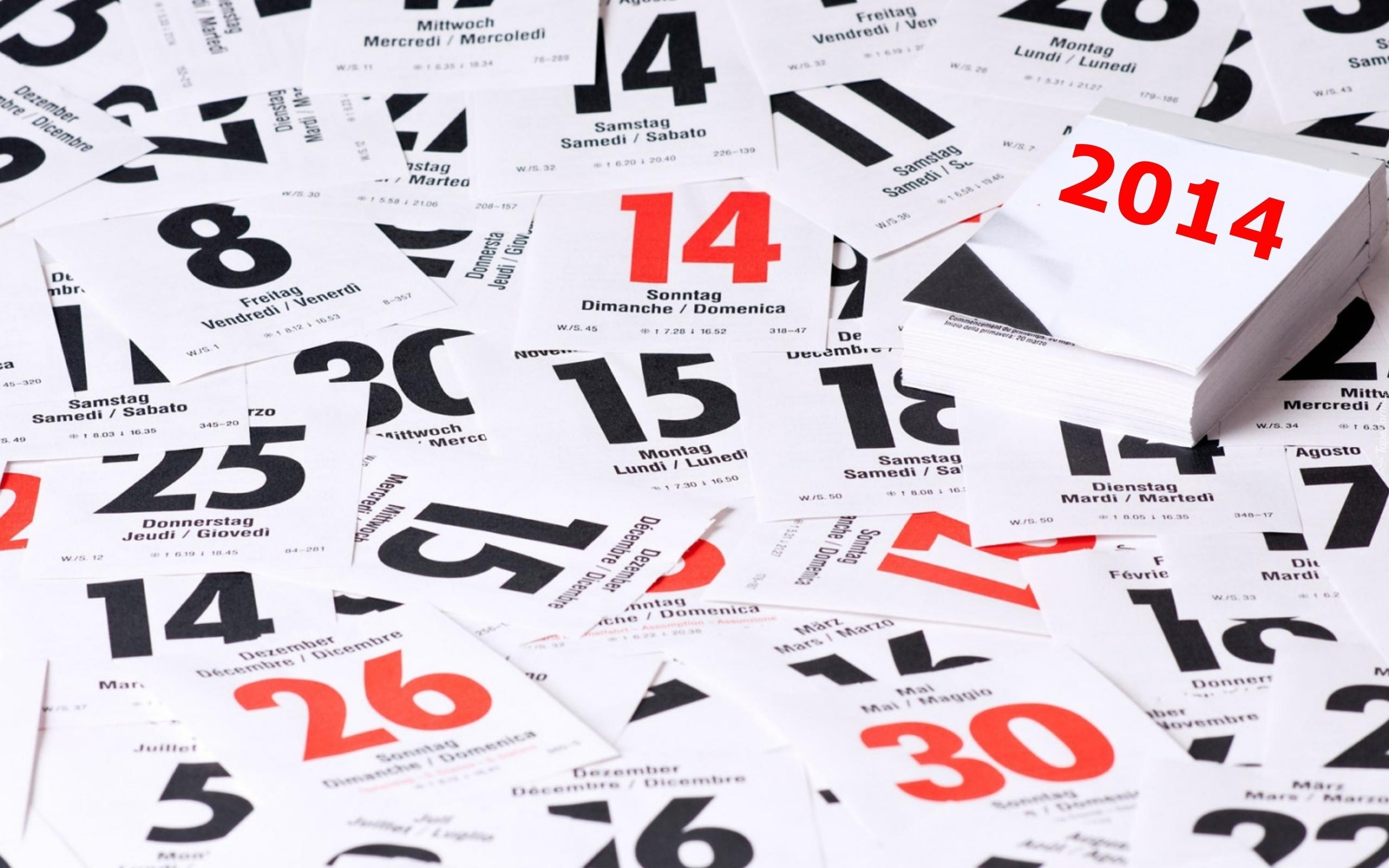 Картинка 2011, дни, календарь, новый год, листки, Праздник скачать.