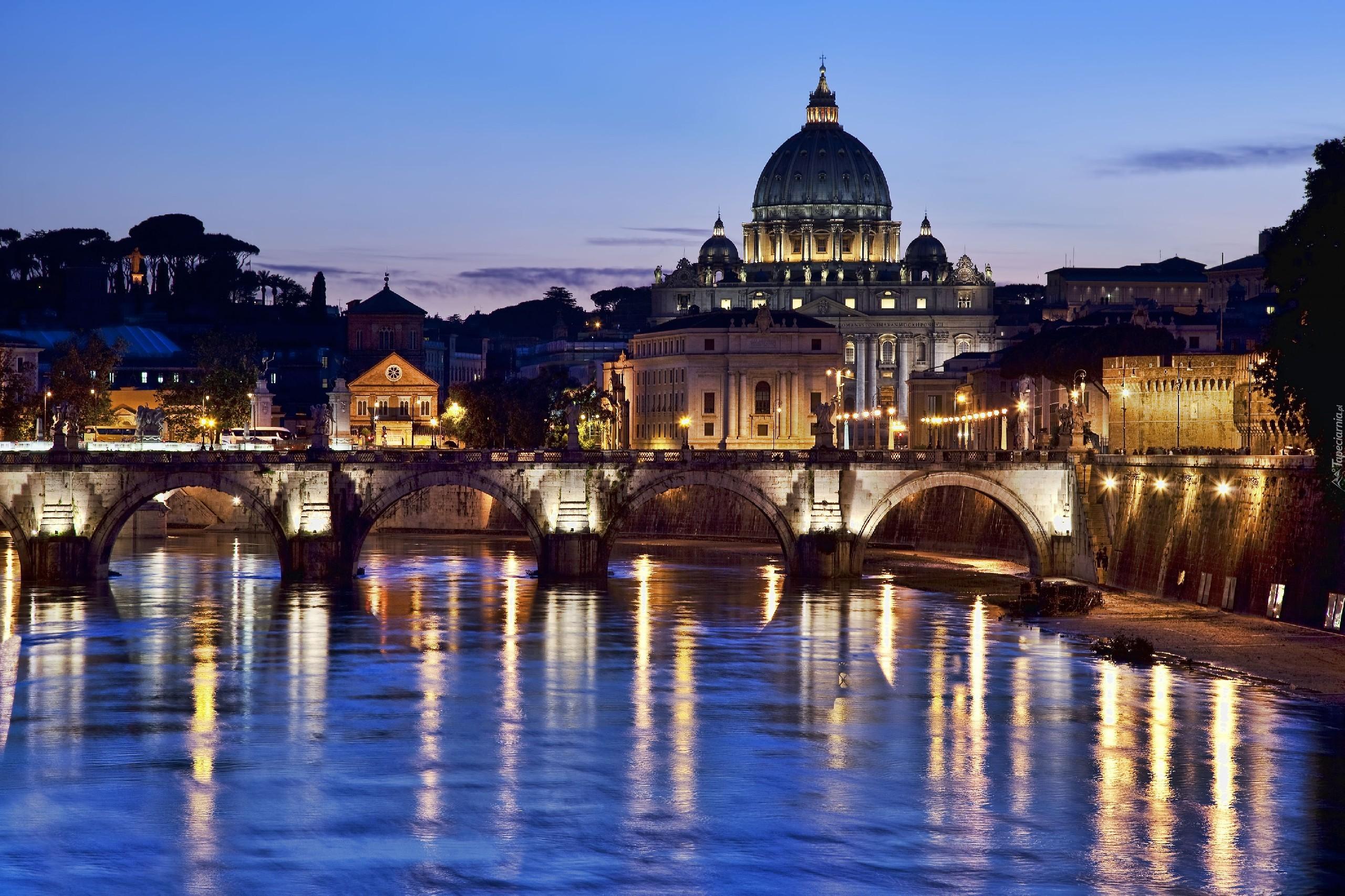 Watykan, Rzym, Włochy, Rzeka