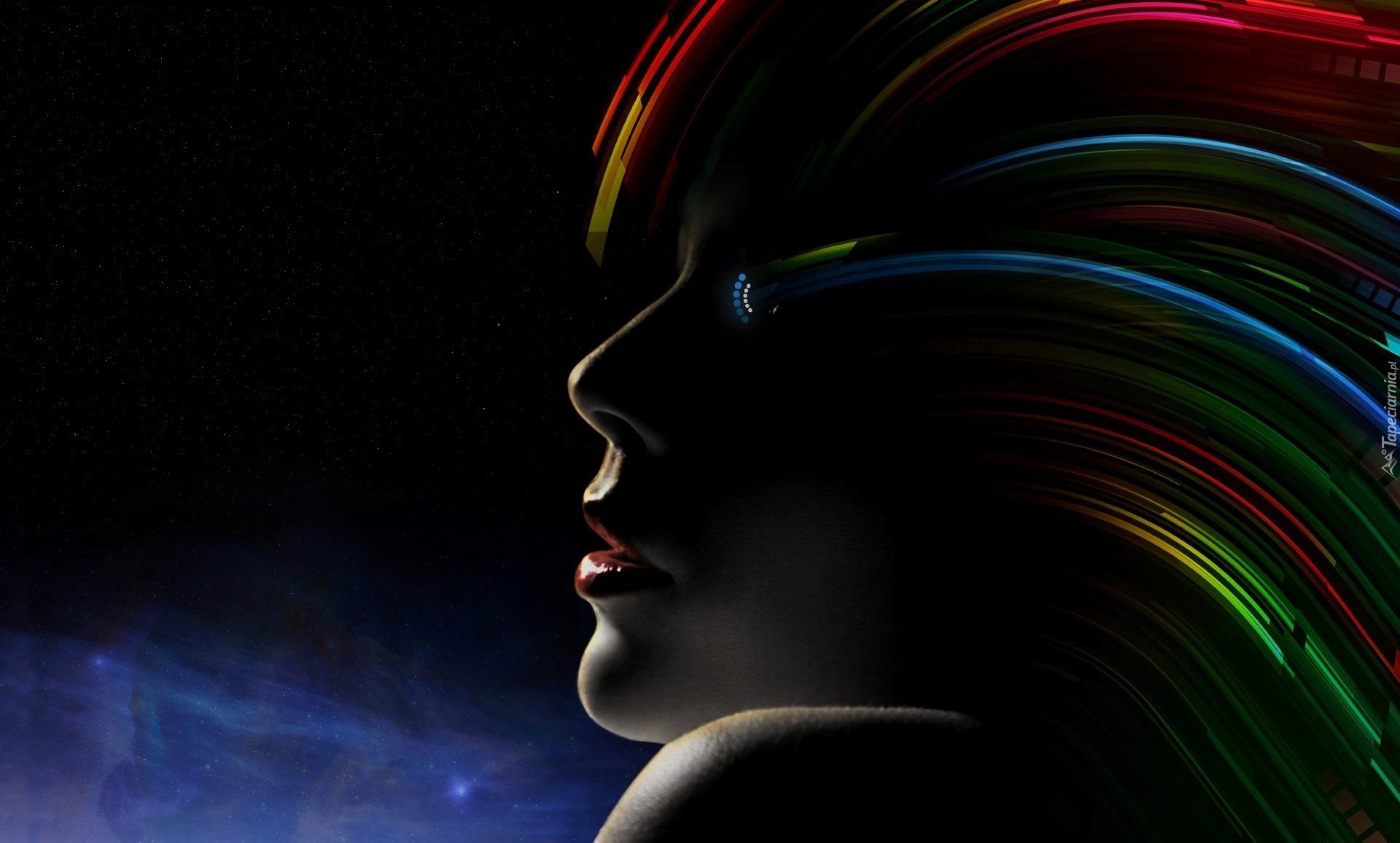 Девушка из абстрактных линий  № 877097 бесплатно