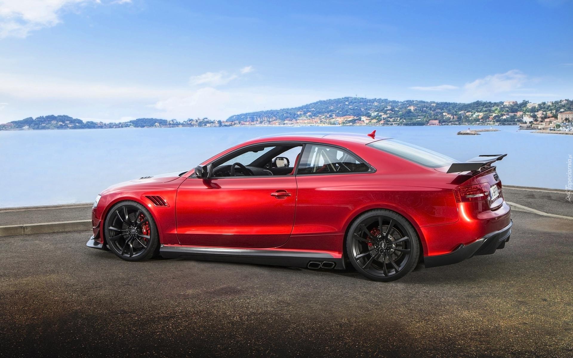 Audi A5 красная купе  № 3761357 бесплатно