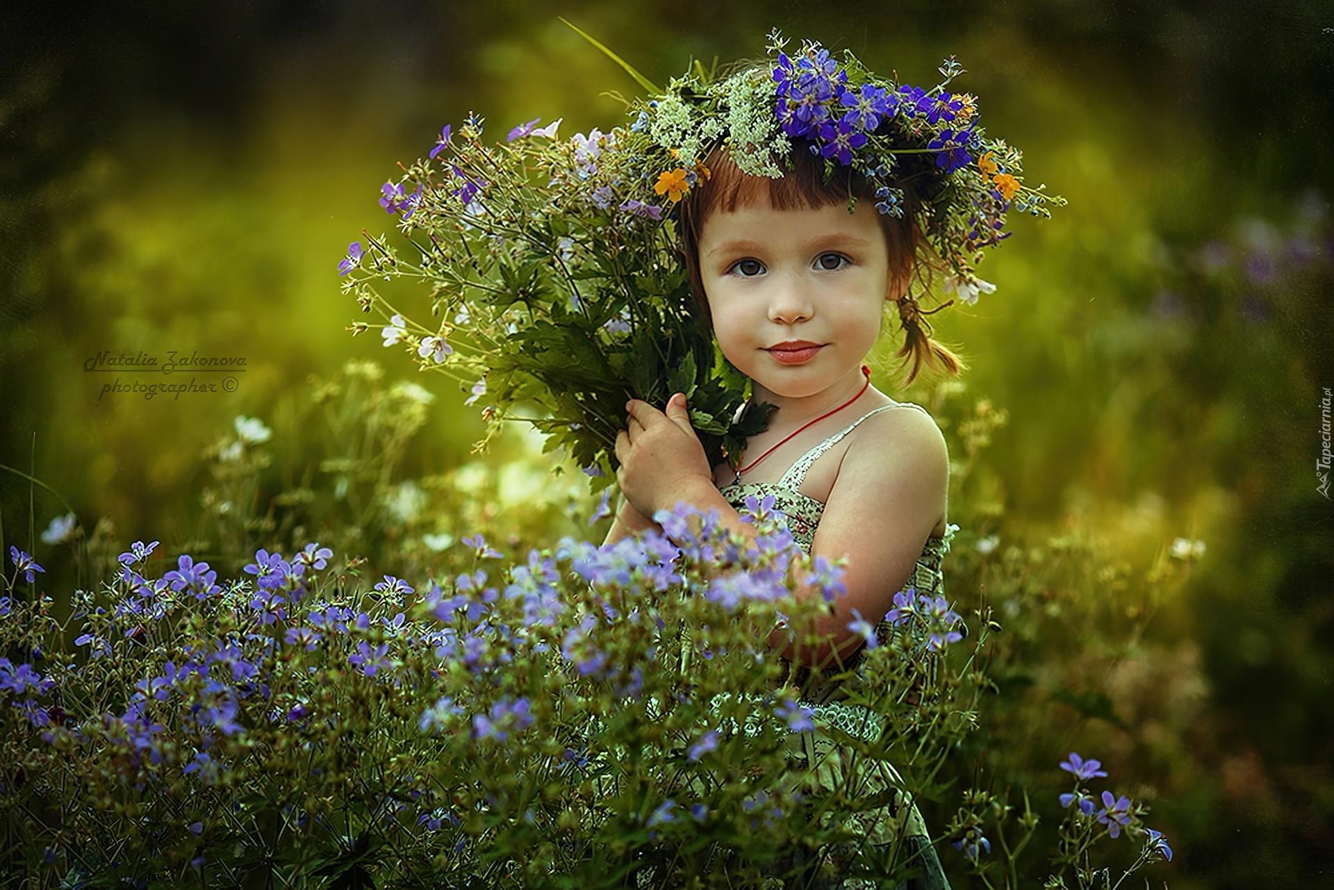 Nastoletniej Dziewczyny Zrywanie Kwitnie Na łące Zdjęcie
