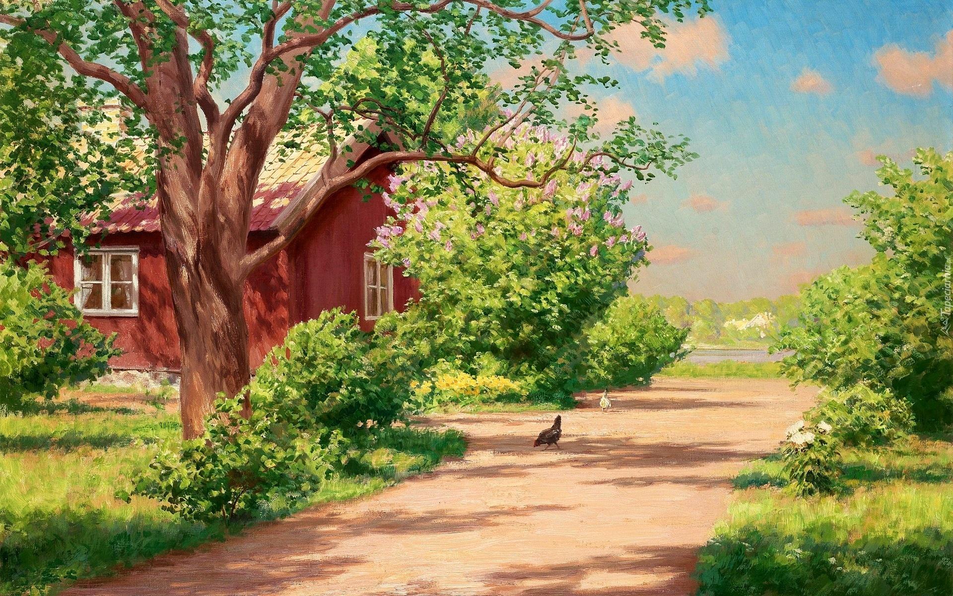 Дом деревня рисунок
