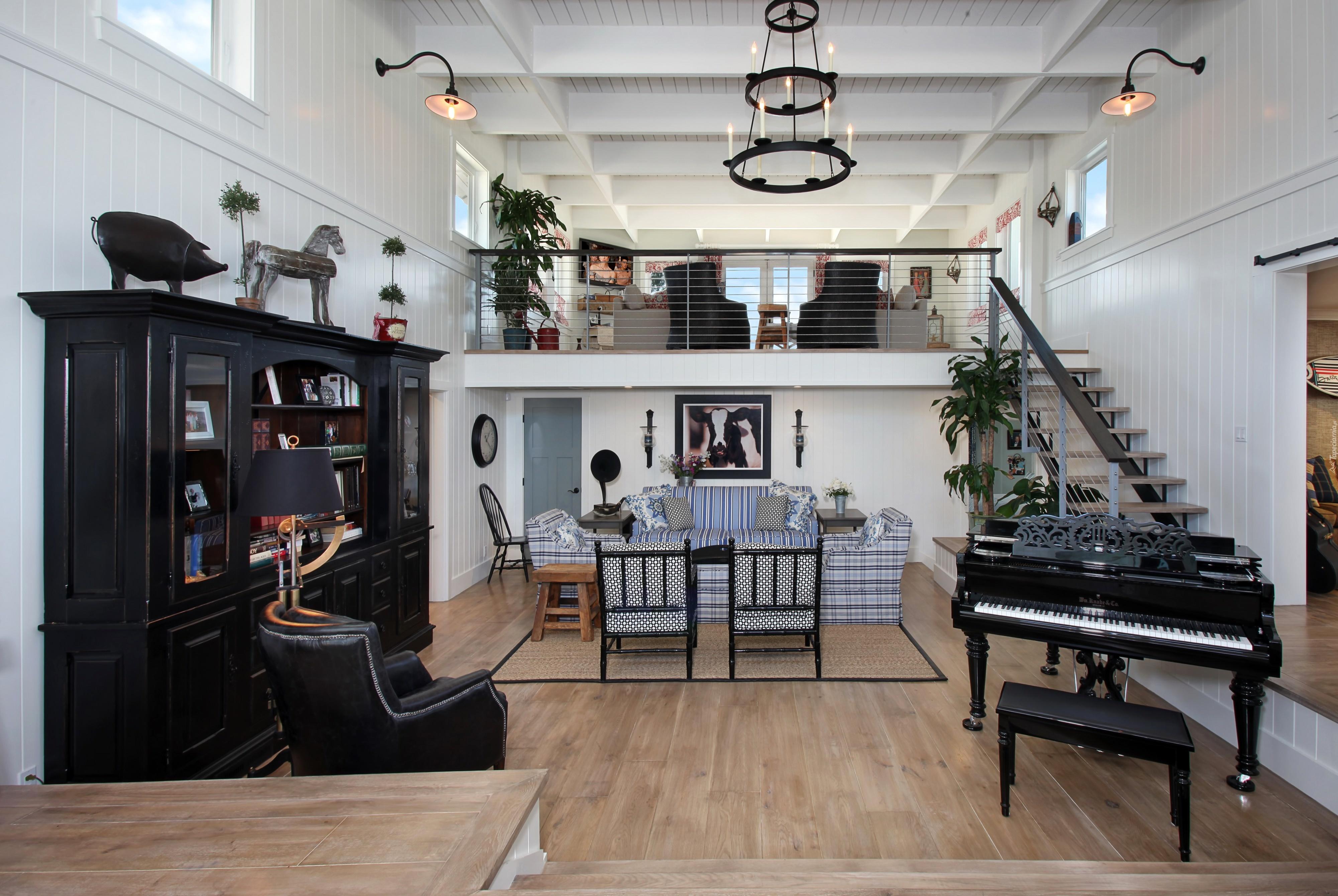 salon fortepian meble schody. Black Bedroom Furniture Sets. Home Design Ideas
