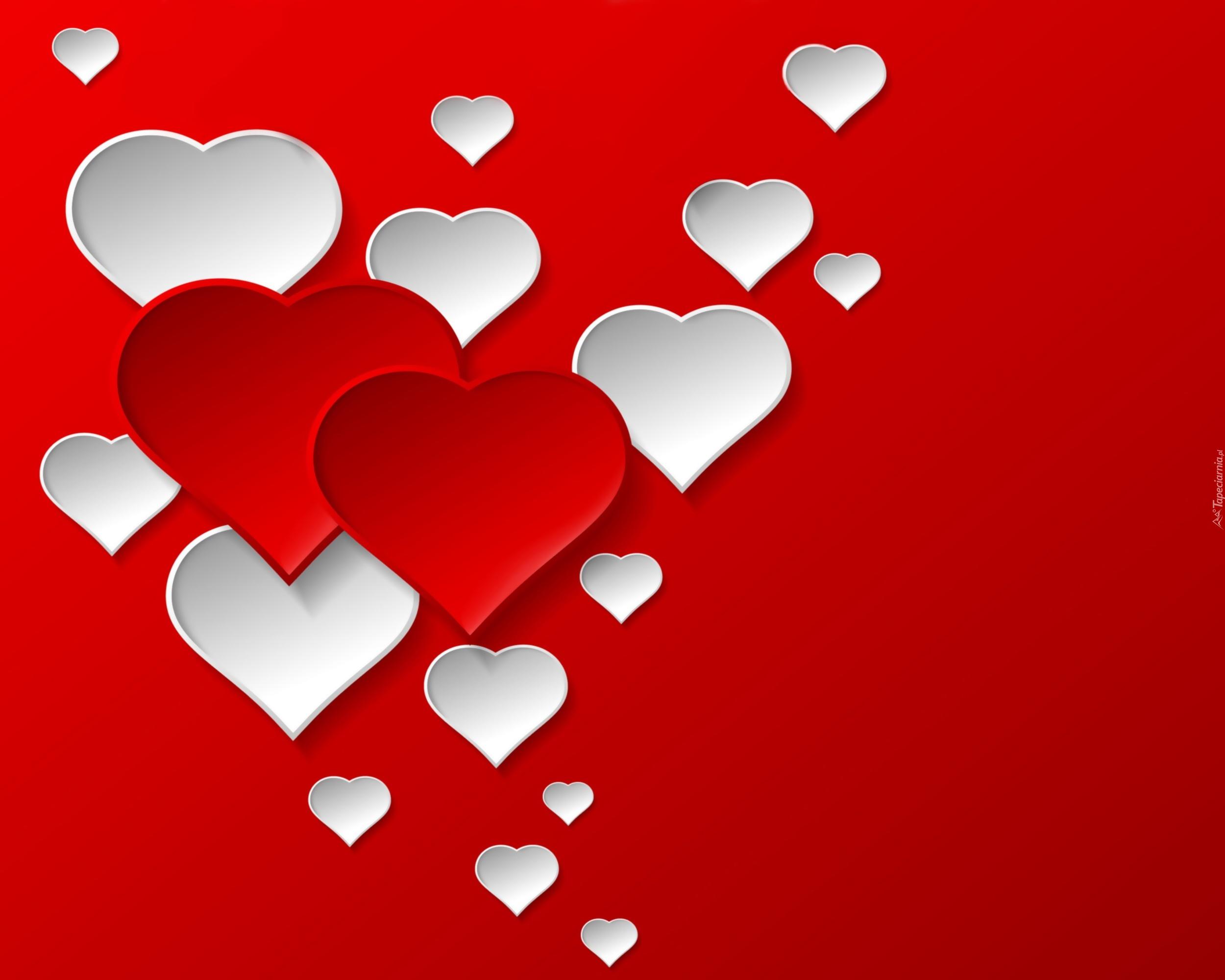 Walentynki serca bia e czerwone for The designlover