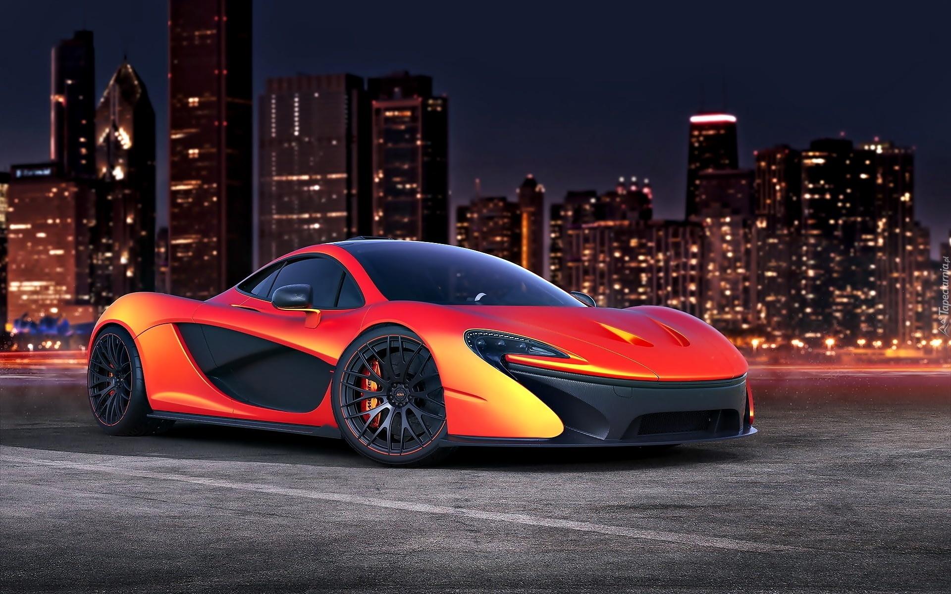 Custom Mclaren P1 >> Samochód Sportowy, McLaren, P1, Miasto, Noc