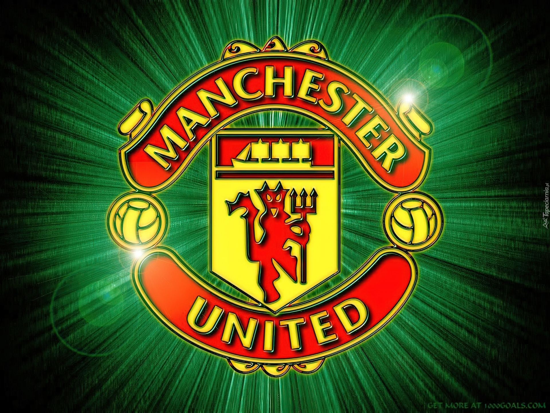 Herb  Manchester United  Zielone    Wiat  O