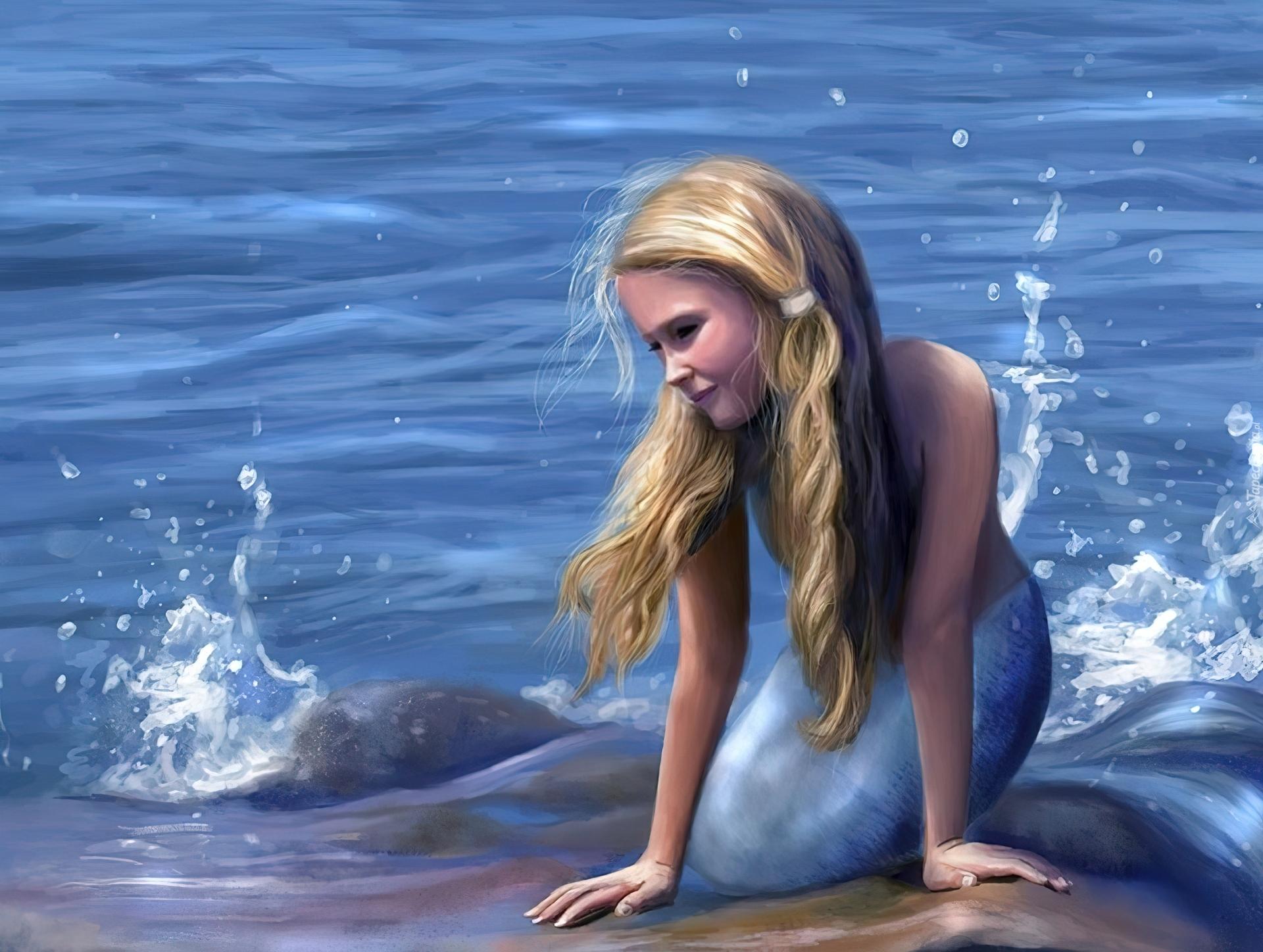 Dziewczyna, Syrenka, Morze