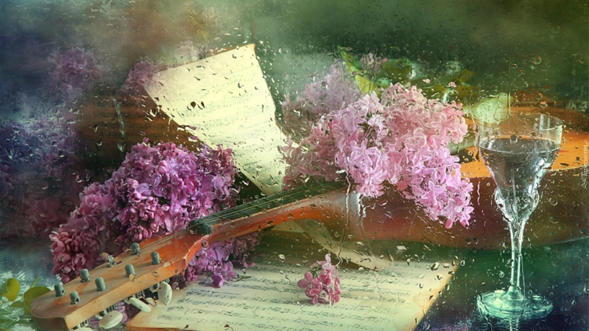 Фото красивого натюрморта с гитарой 5