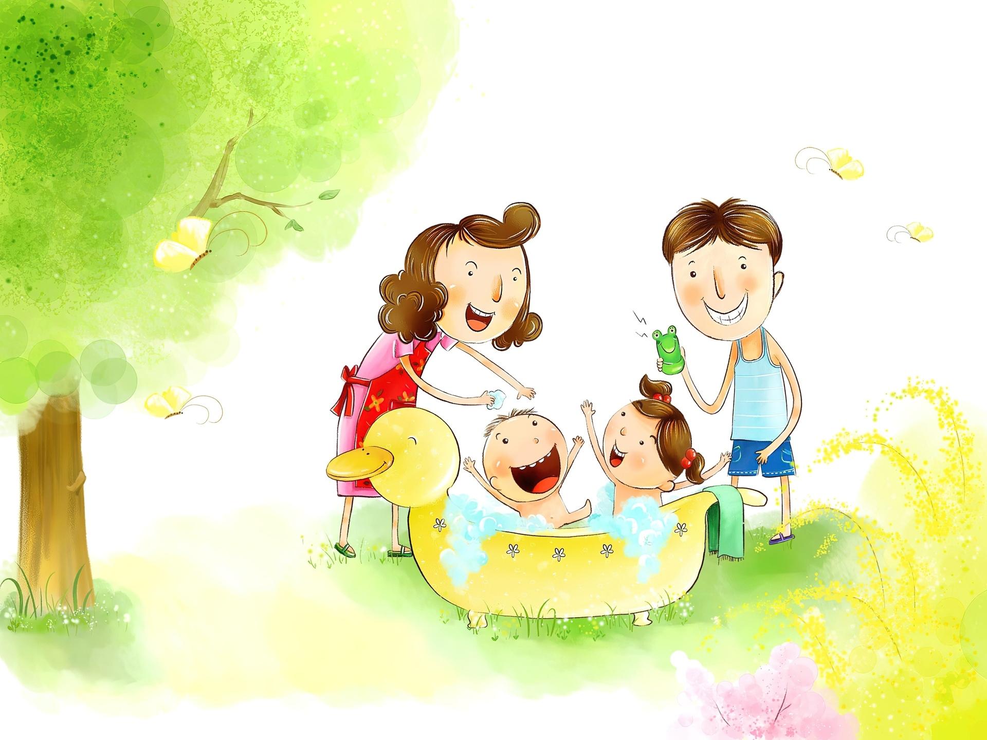 Рисунки счастливый ребёнок в счастливой семье