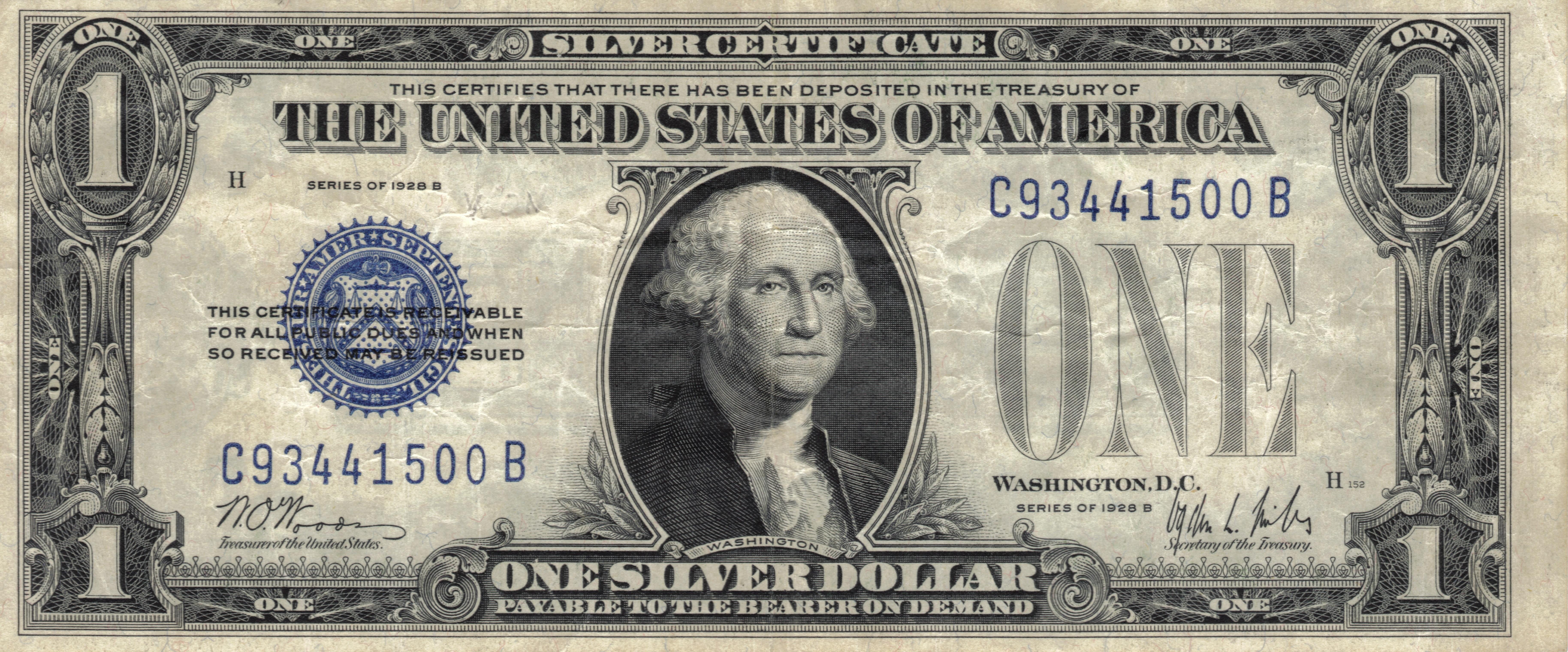 Banknot Jednodolarowy