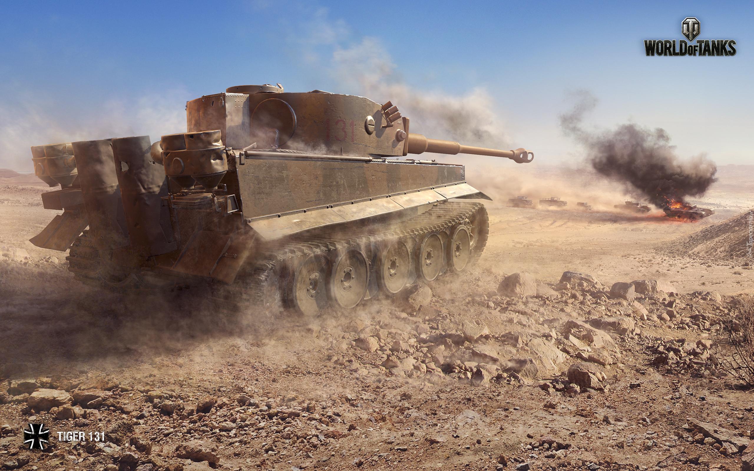 W.tiger World Of Tanks Czołg Tiger 131 w grz...