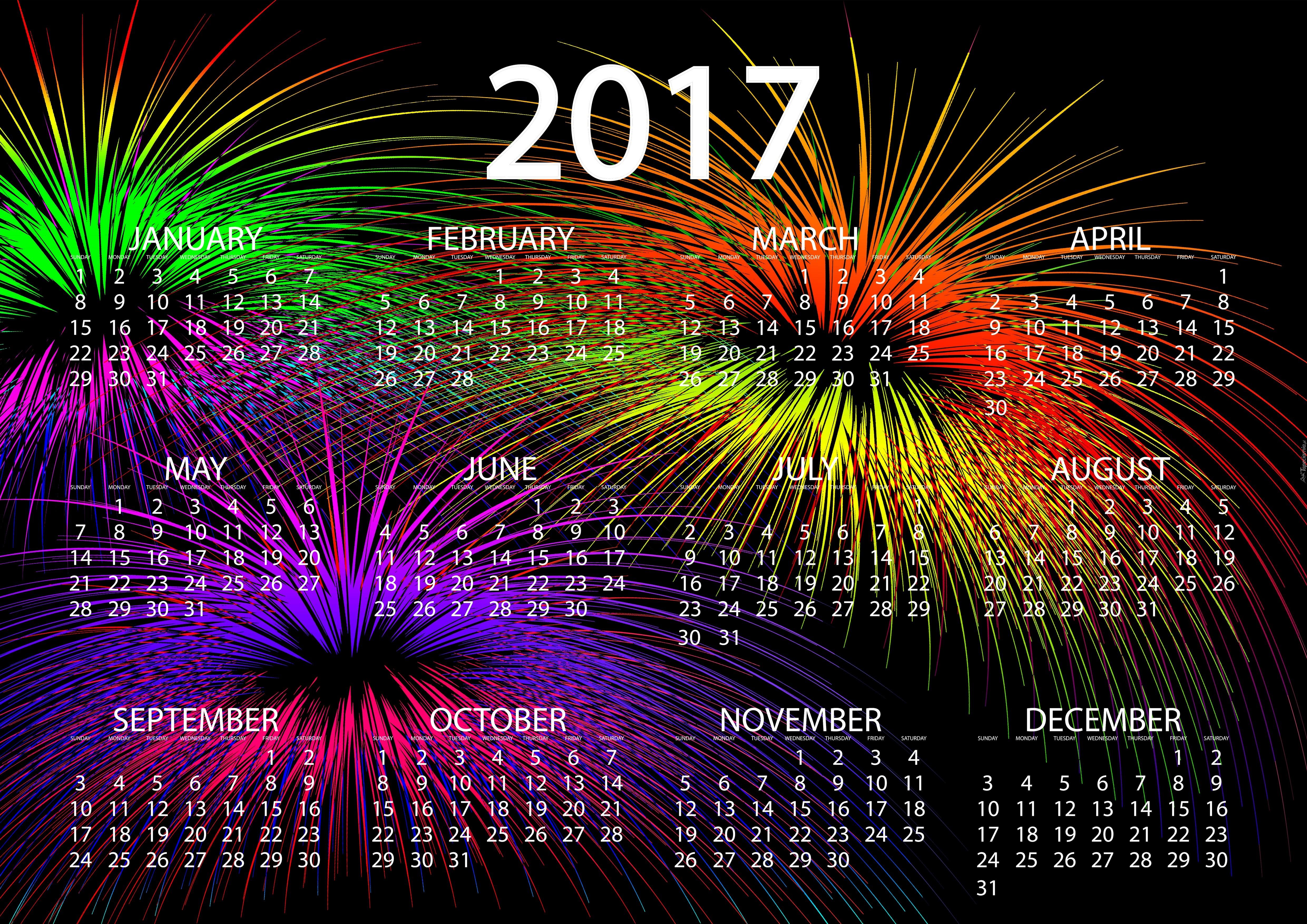 Kalendarz Na Nowy Rok 2017