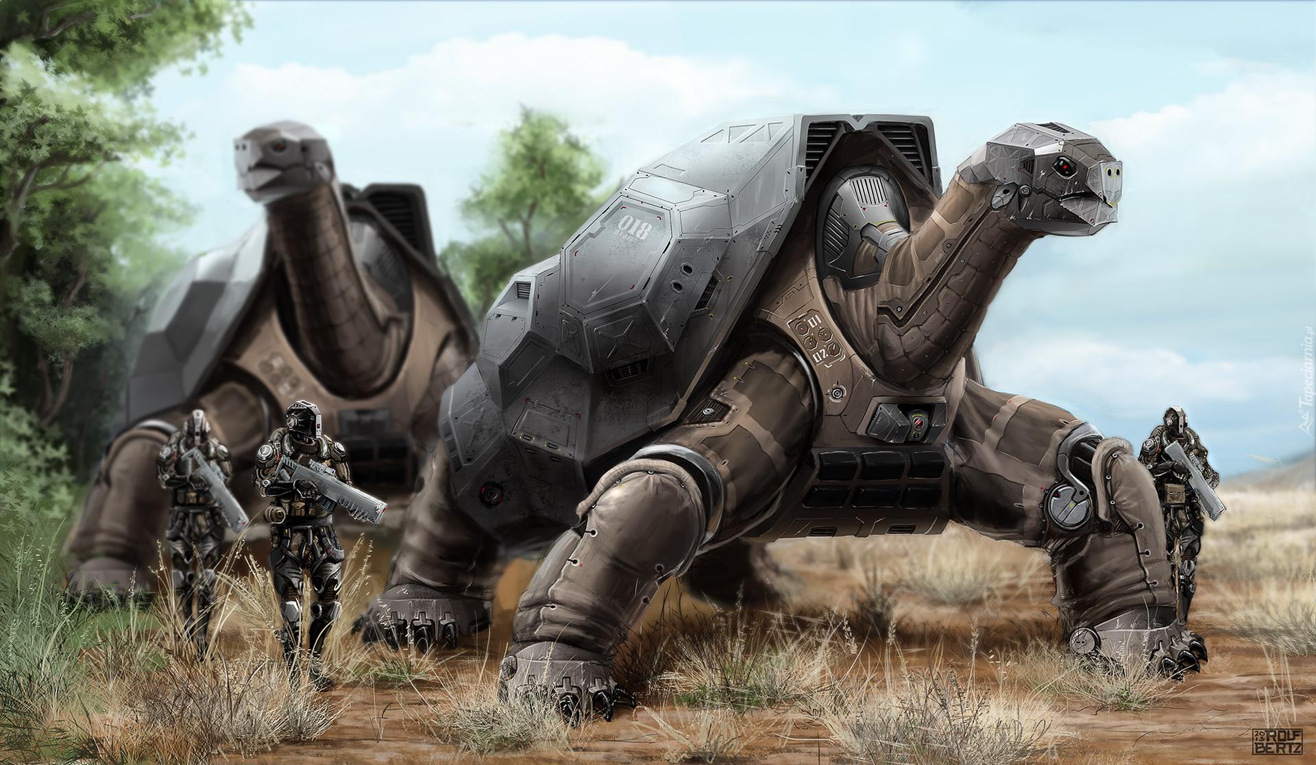 Deviantart Robot Animals: Żółwie Roboty W Akcji