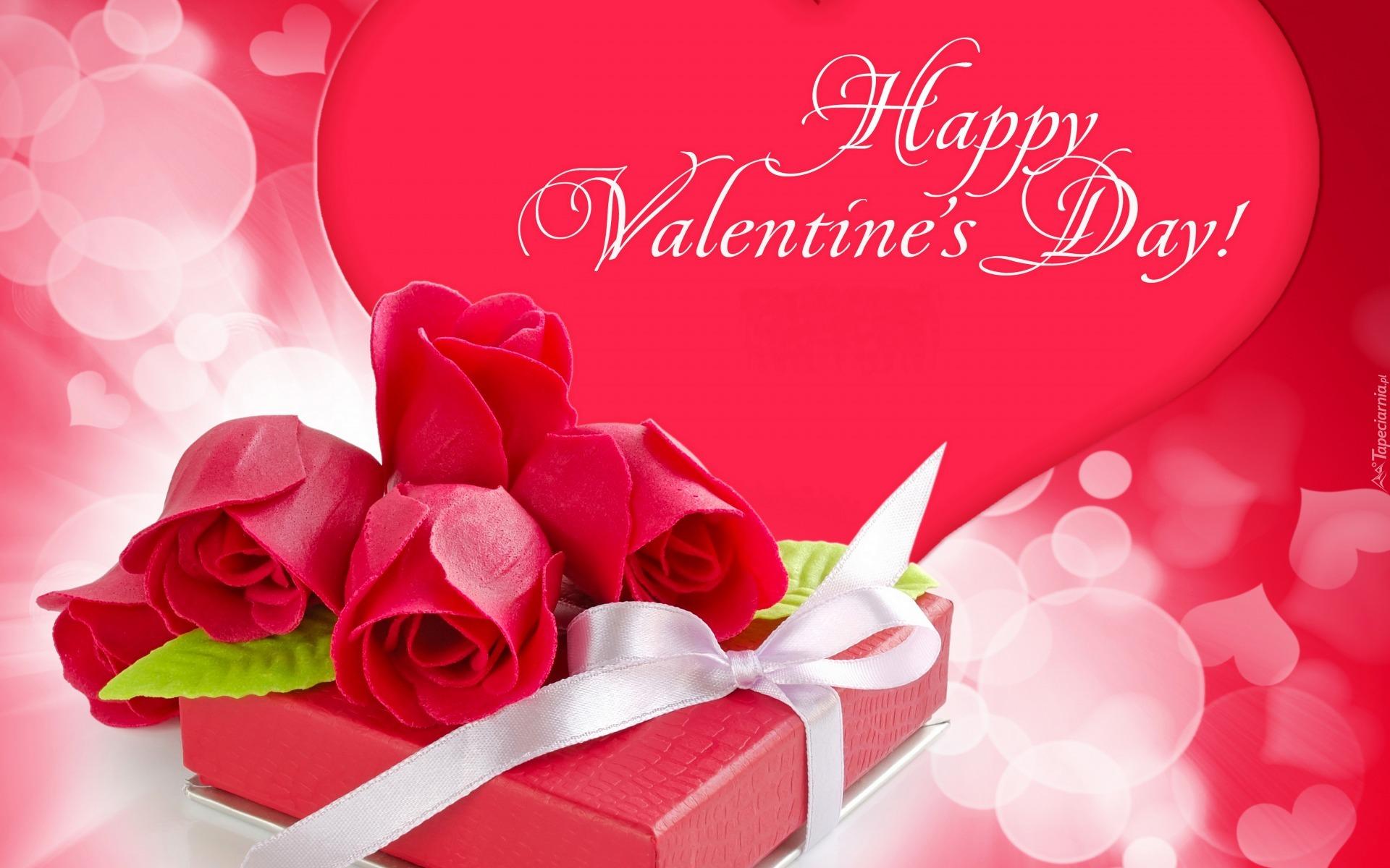 życzenia Walentynkowe: Życzenia Walentynkowe Z Prezentem I Różami