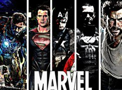 Marvel, Bohaterzy, Heroes, Iron Man, Superman, Kapitan Ameryka, Punisher, X Men, Wolverine