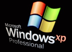 Logo, Windows, XP, Czarne, T�o
