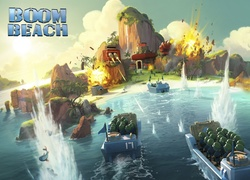 Gra, Strategia, Boom Beach, Grafika 3D