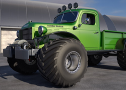 Zielony Dodge Power Wagon z 1946 roku