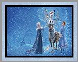 Bajka, Kraina Lodu, Frozen, Elsa, Anna, Bałwan Olaf, Renifer Sven