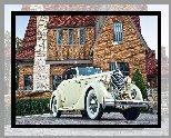 Zabytkowy, Packard Twelve Coupe Roadster, 1936, Dom