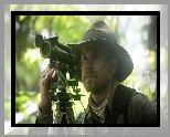 Film, Zaginione miasto Z, The Lost City of Z, Aktor, Charlie Hunnam,  Dżungla, Kapelusz, Luneta