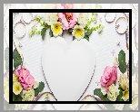 Kwiaty, Serce, Kompozycja