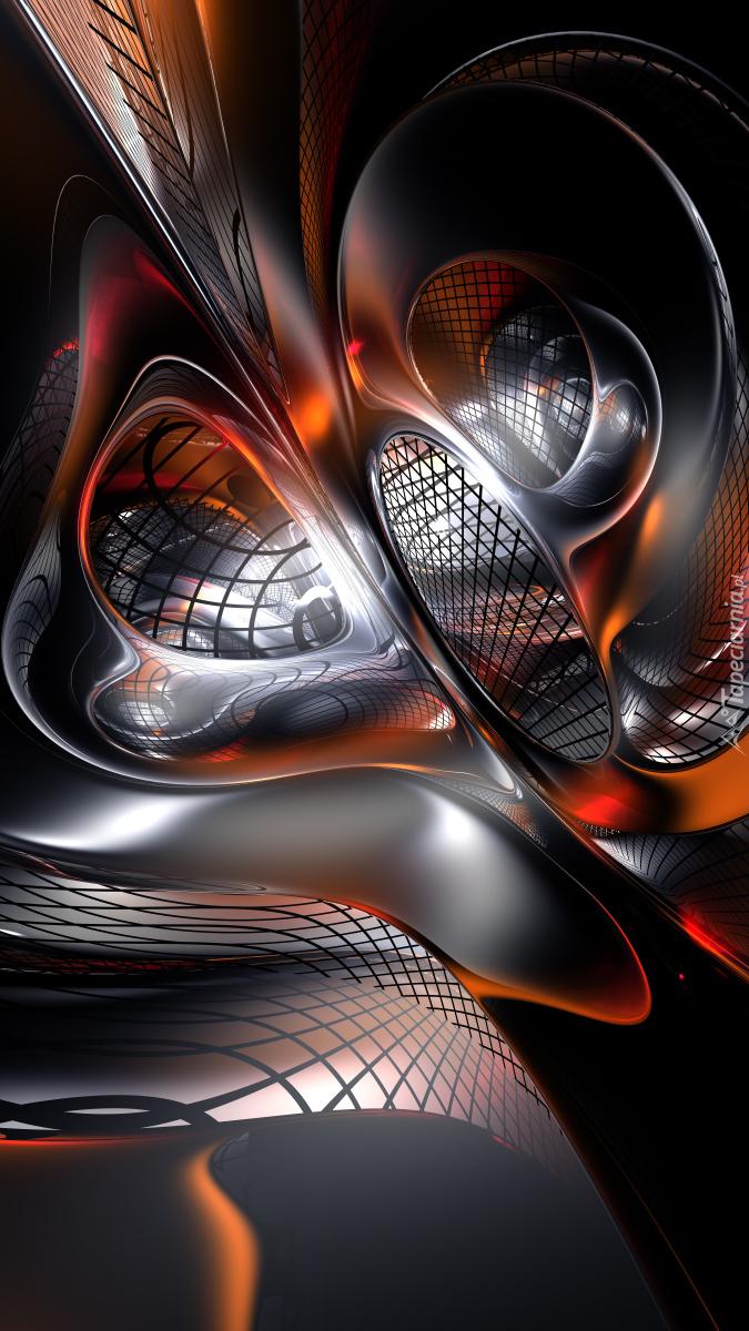 Abstrakcyjna grafika z siateczką