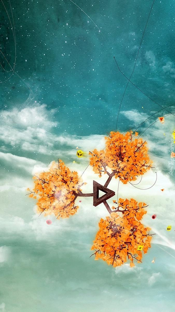 Abstrakcyjna roślina na niebie