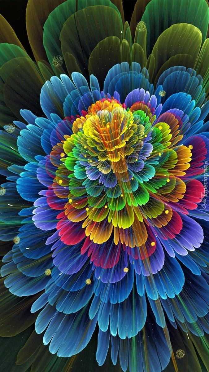 Abstrakcyjny kwiat