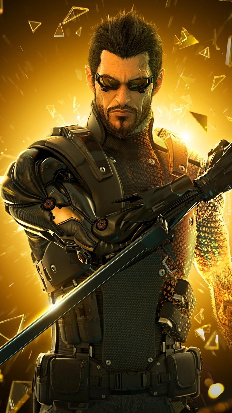 Adam Jensen z gry Deus Ex Bunt ludzkości