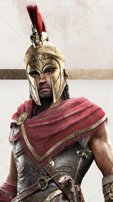 Alexios w hełmie