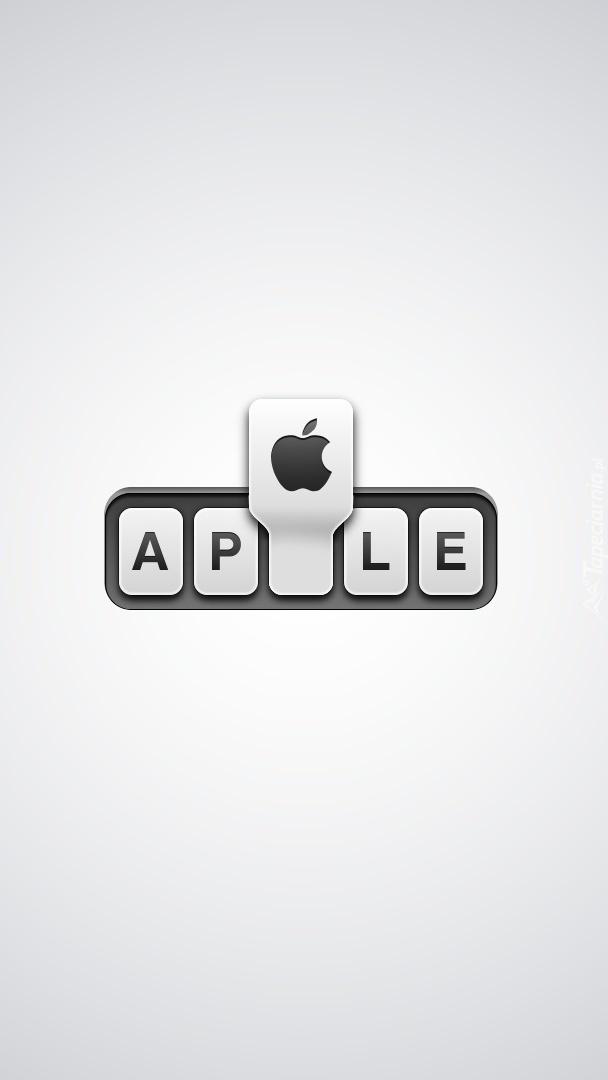 Apple na klawiaturze