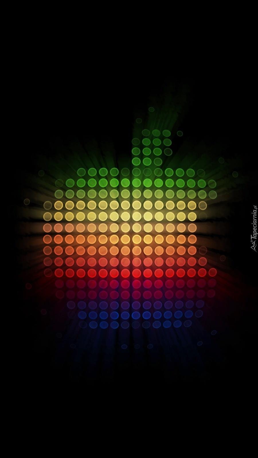 Apple w kolorach tęczy