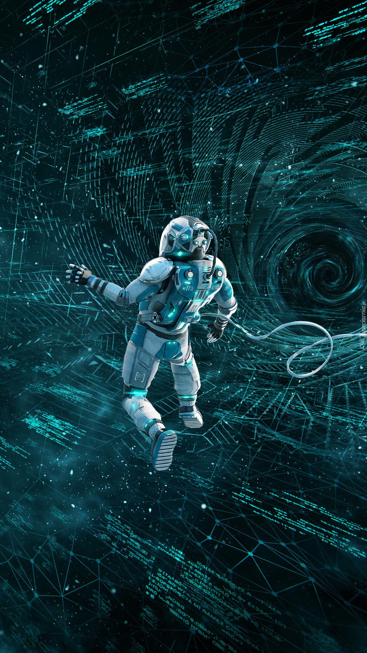 Astronauta w 3D