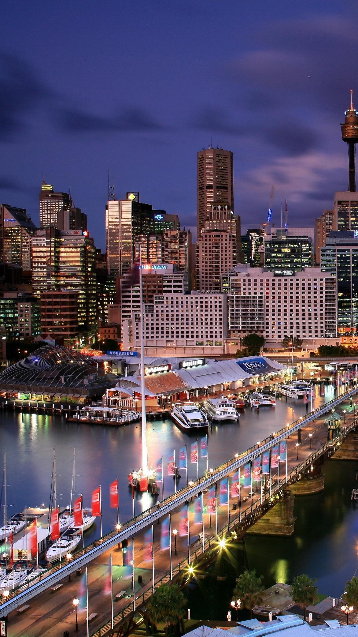 Australijskie wieżowce nad rzeką