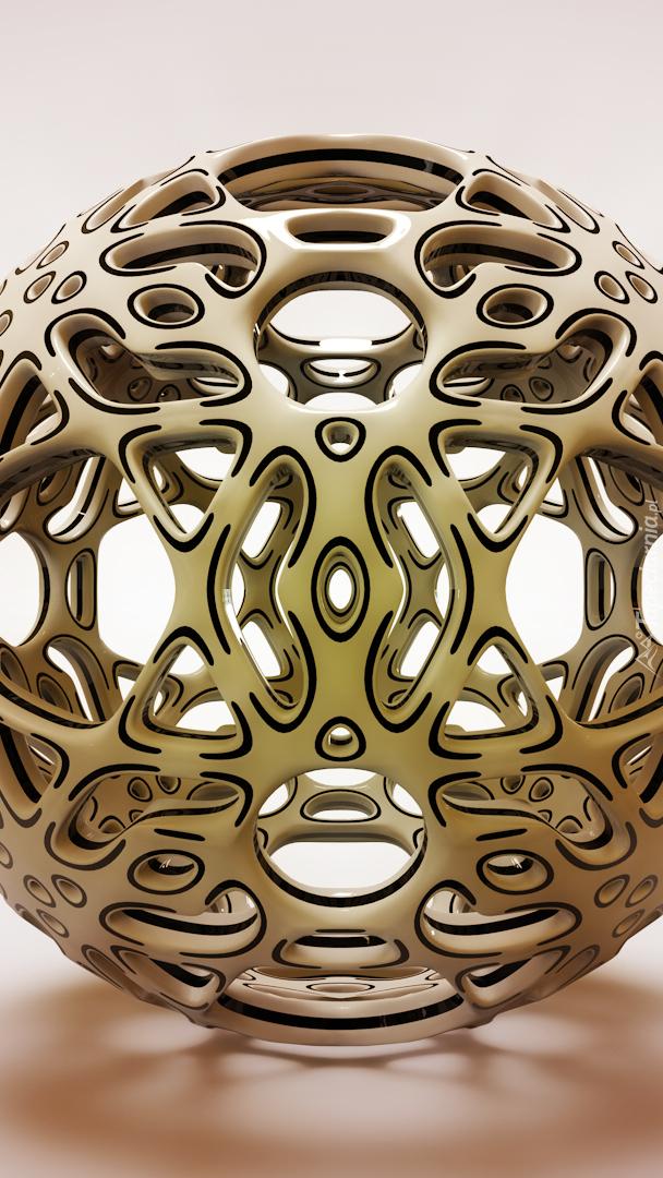 Ażurowa kula w grafice 3D