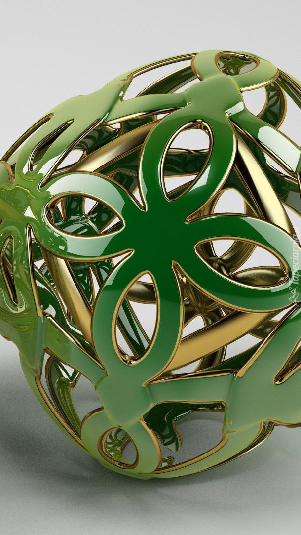Ażurowy obiekt w grafice 3D