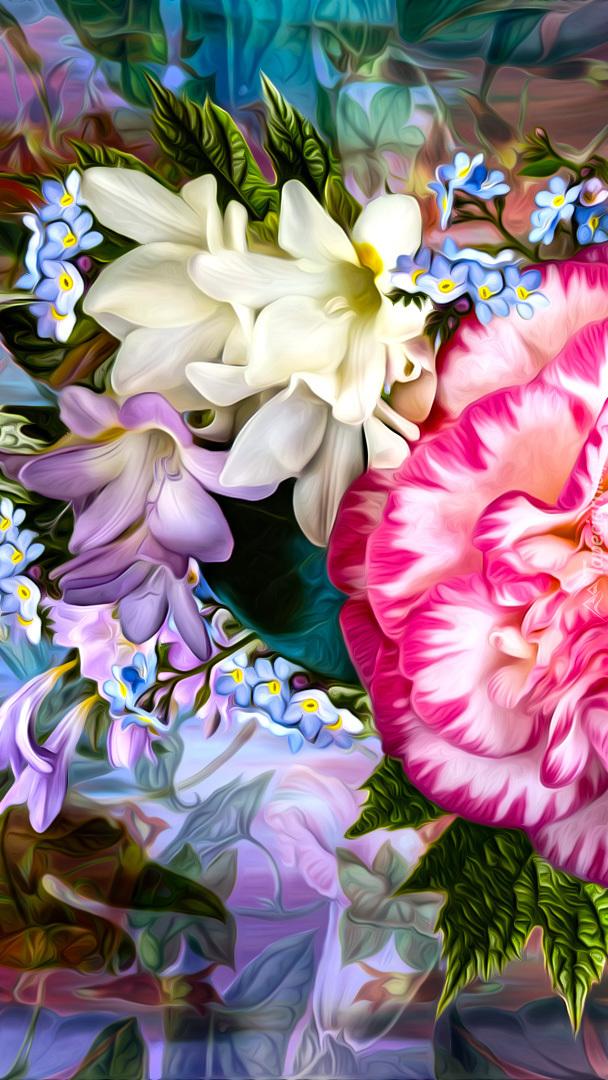 Barwne kwiaty graficzne