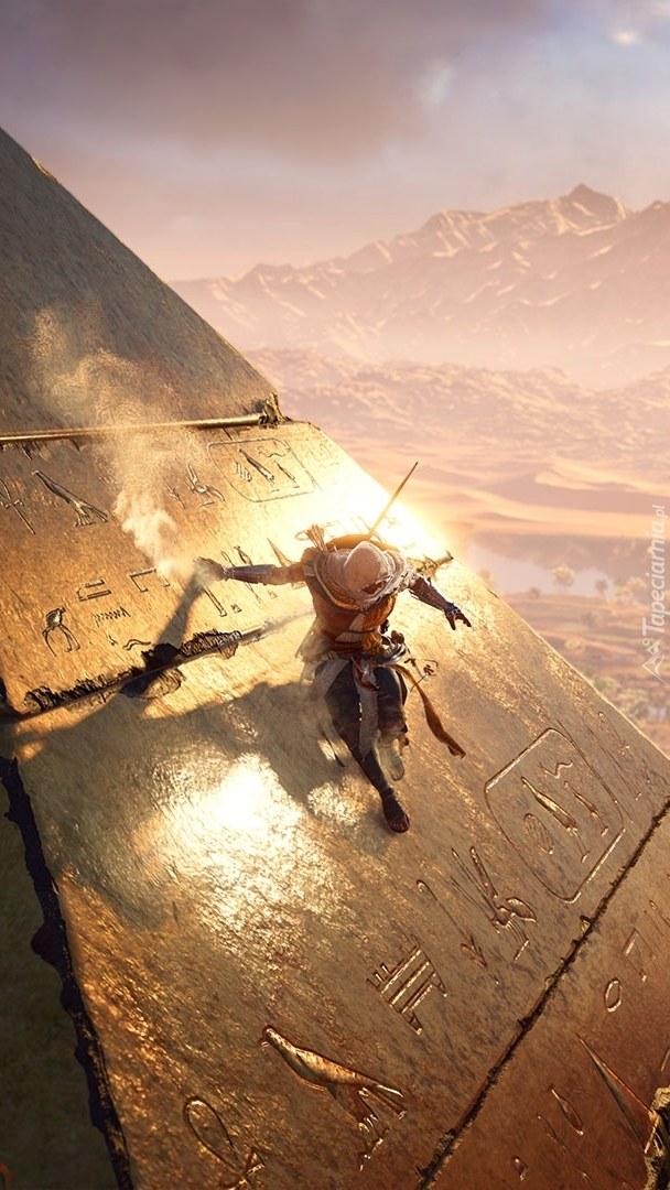 Bayek na piramidzie