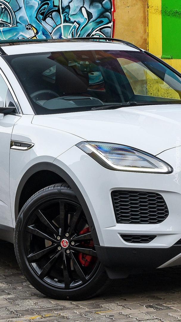 Biały Jaguar E-Pace