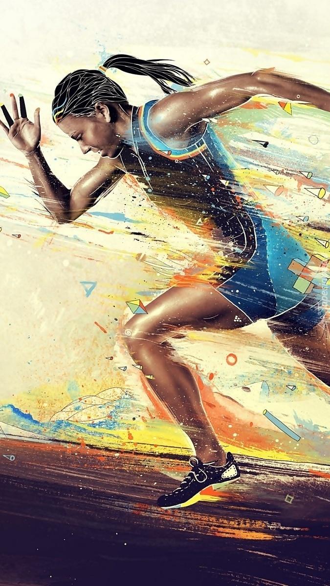 Bieg kobiety po zwycięstwo