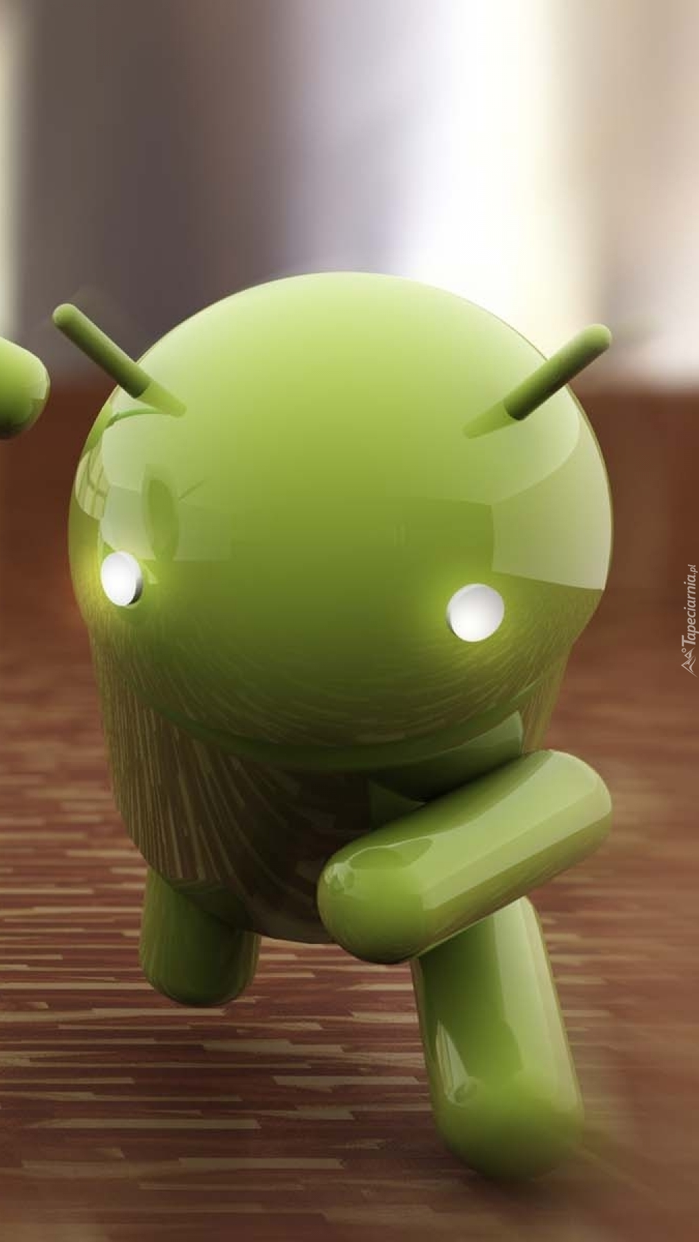 Biegnący androiď