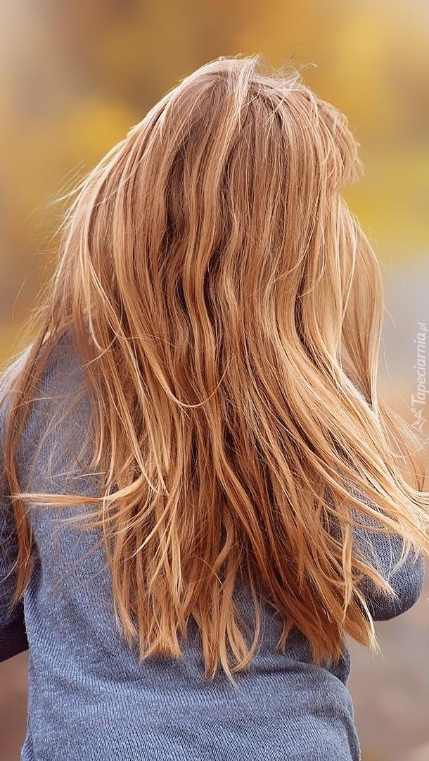 Blondynka z długimi włosami